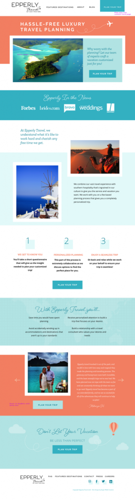 Travel agent website design